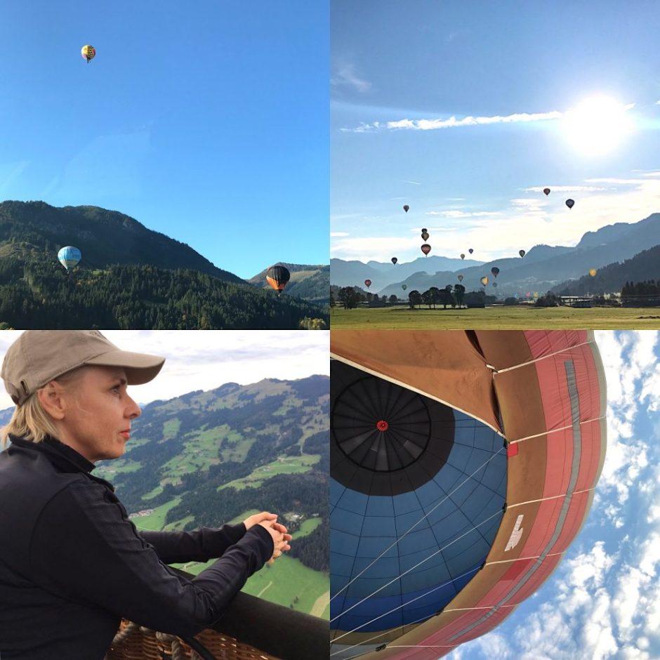 Kitzbuheler Alpen hot air balloon tyrol