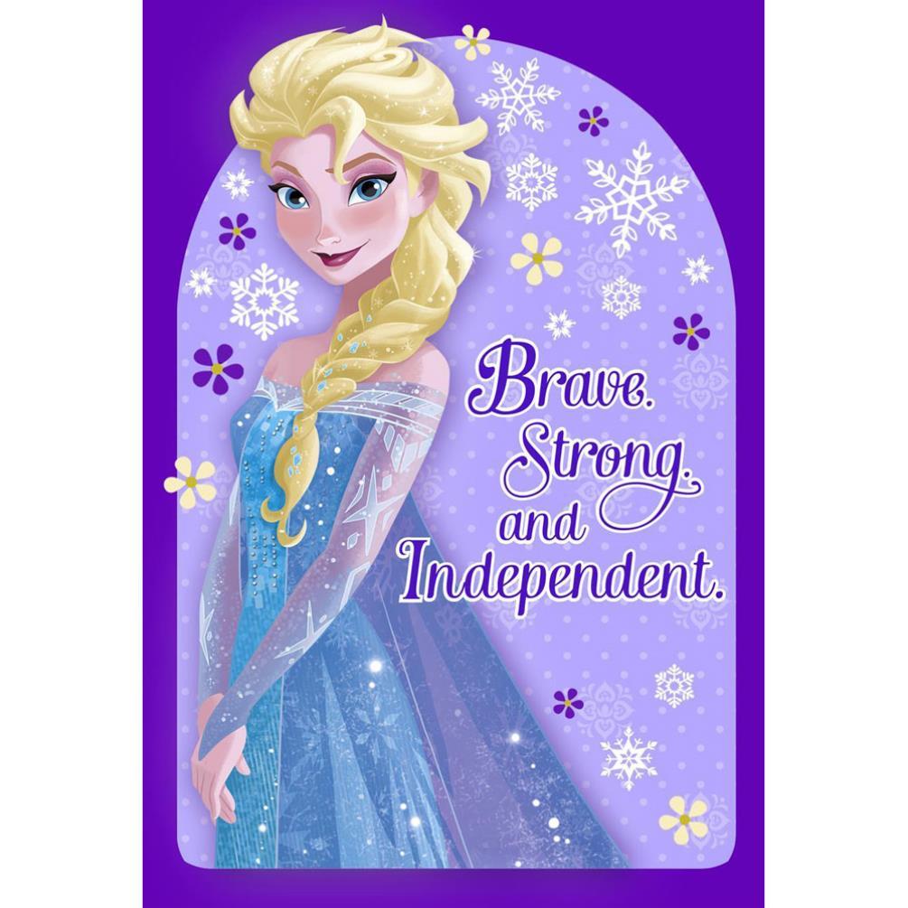 Elsa Brave Amp Strong Disney Frozen Birthday Card 25470188