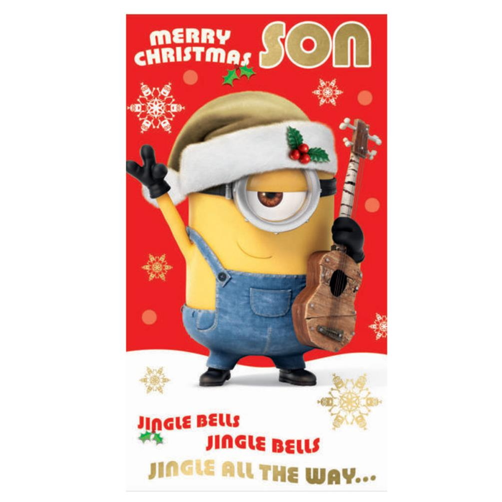 Son Minions Christmas Card DMX02 Character Brands