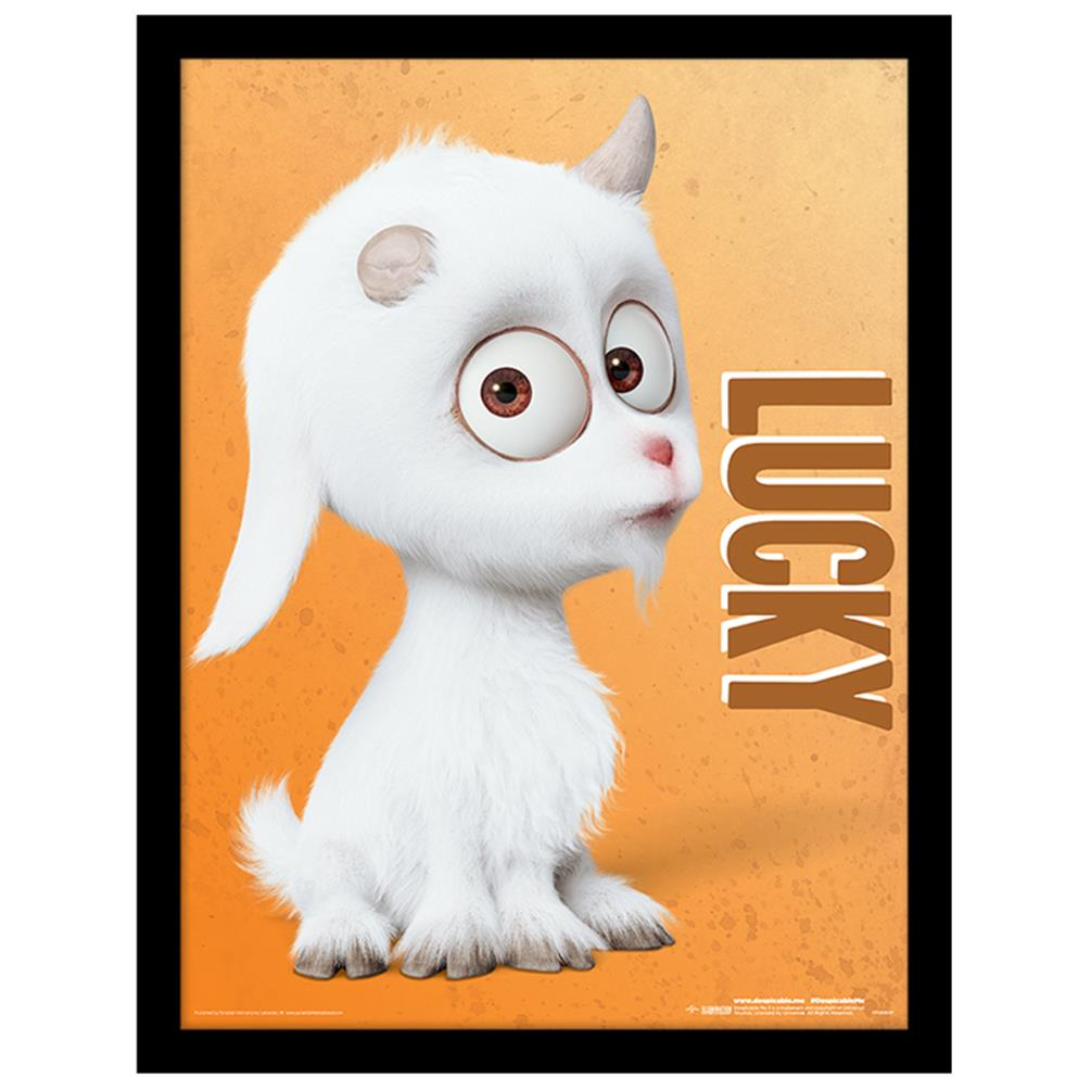 Despicable Me Lucky The Uni Goat Framed Print 30 X 40cm