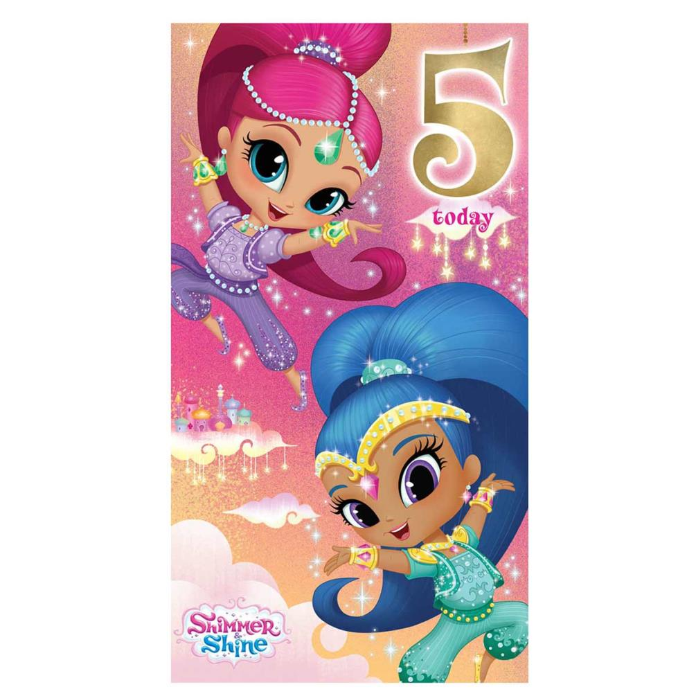 5 Today Shimmer Amp Shine 5th Birthday Card SI009