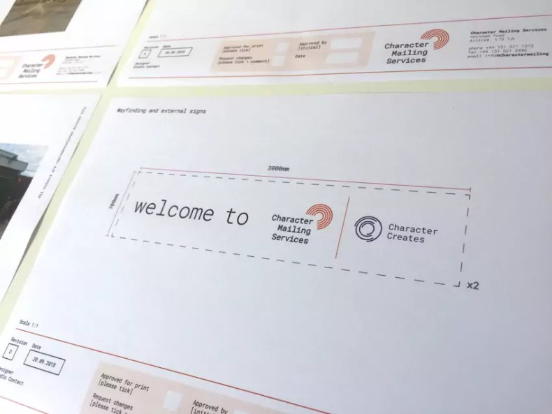More Signage Visuals from the Character Creates Design Team