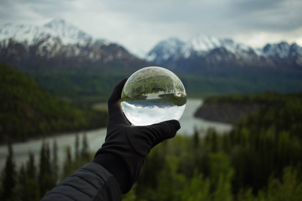 A ball of glass used to look at the world | www.characterrepublic.com