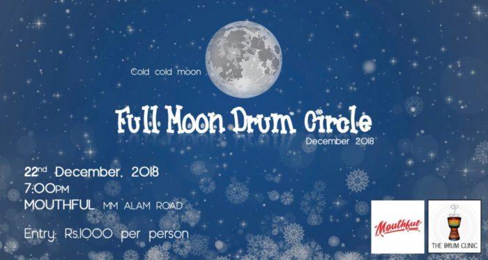 full moon drum cricle