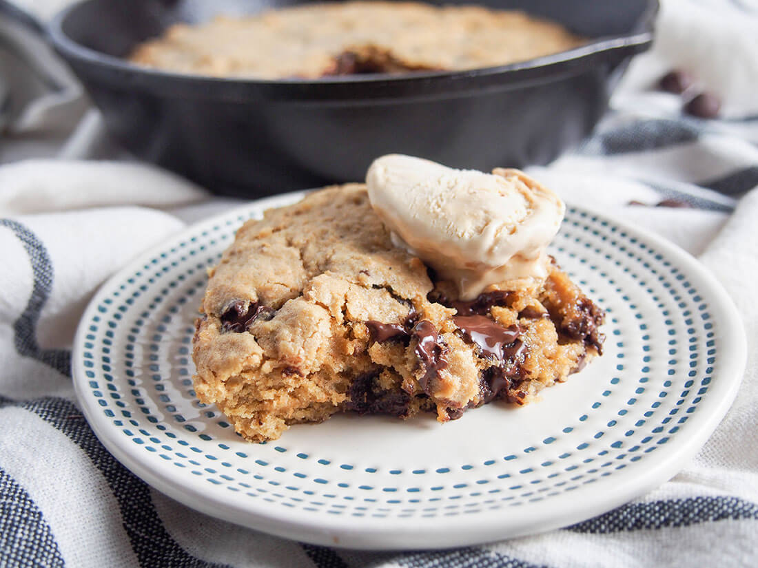 Oatmeal chocolate chip skillet cookie photo - 114 by Insomnia Kitchen: All Out, All Night, Alright