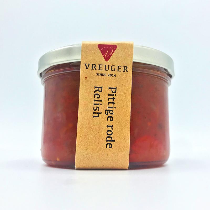 Condimenten tafelganituren tafelzuur Vreuger Pittige rode relish