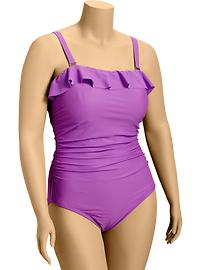 Women's Plus Ruffled Swimsuits - Westminister Violet