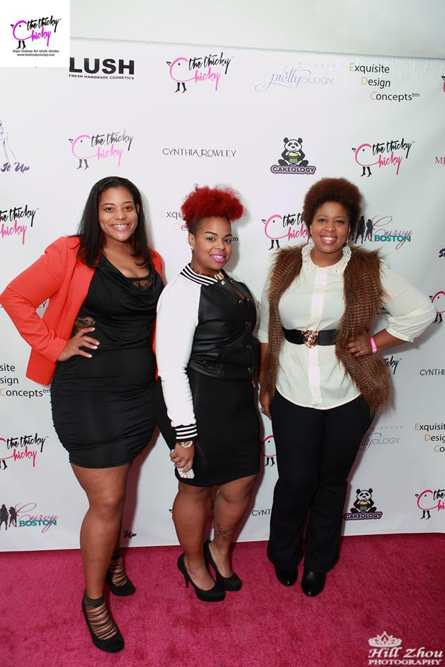 Curvy Boston was featured at the thicky chicky launch!