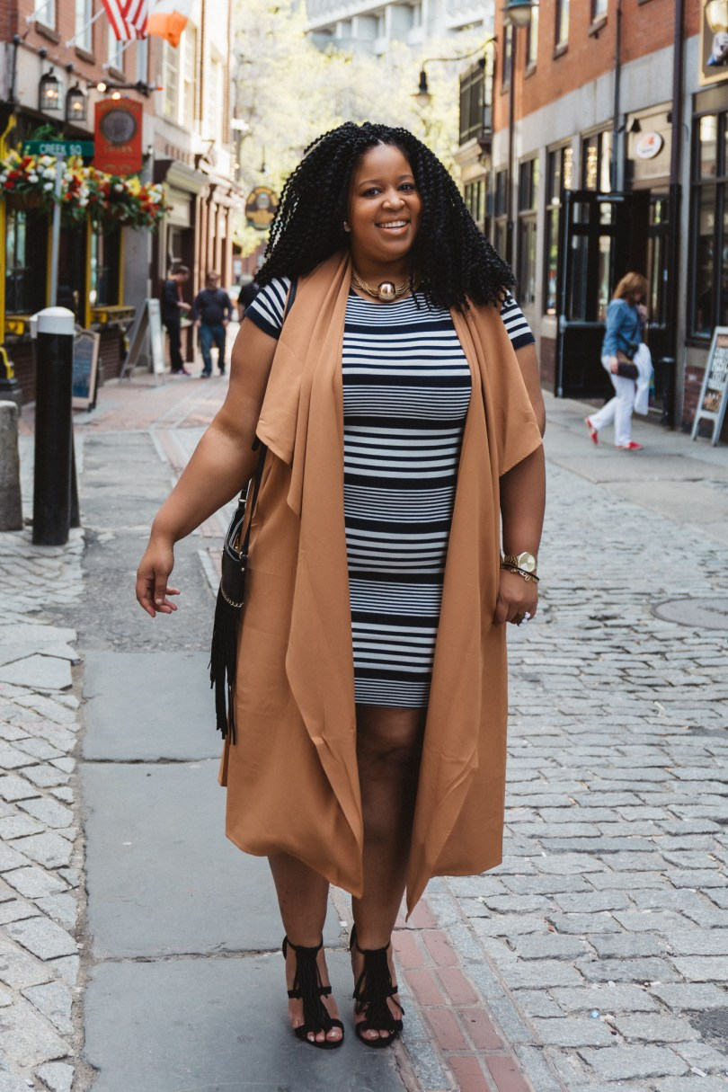 Plus Size Woman Wearing Stripes
