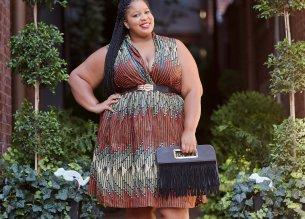 Plus Size African Print Blogger Grass-fields