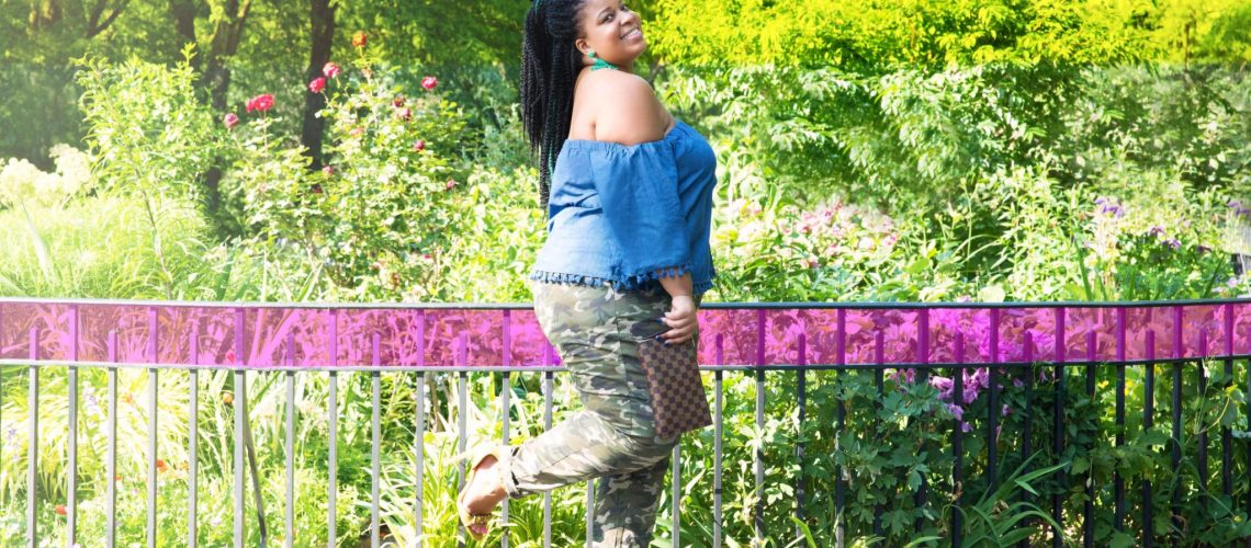 Plus Size Camo Print Pants