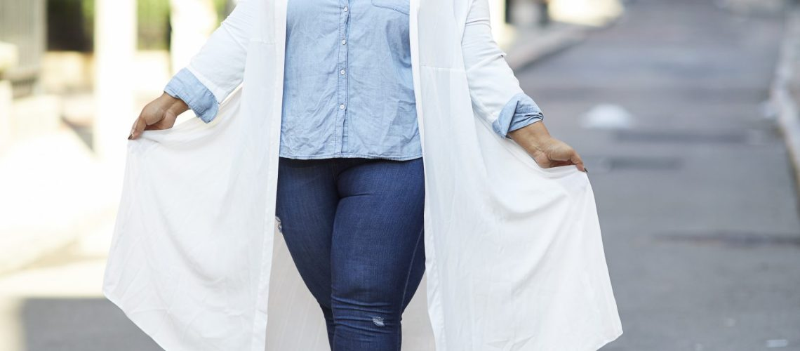 Plus Size Longline Jacket