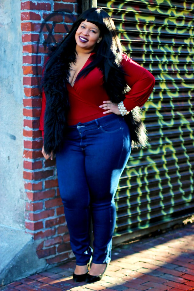 Vest: Ashley Stewart BodySuit: C/OHannah Mone't Jeans: C/O Riders by Lee