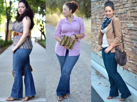 Plus-Size-Inspiration-with-flare-jeans (1)