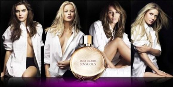 Gwyneth Paltrow, Elizabeth Hurley, Hilary Rhoda and Carolyn Murphy for Estée Lauder's Sensous Perfume