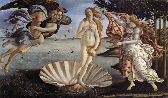 The Birth of Venus - Botticelli (1485)