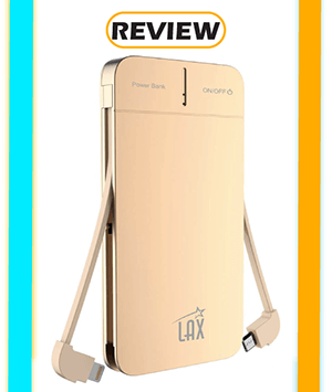 LAX 4,000mAh Power Bank with Lightning and Micro-USB