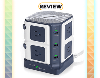 BESTEK Power Strip Surge Protector 8-Outlet
