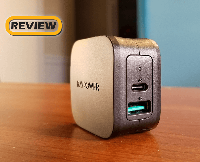 RAVPower 2-Port USB-C Power Delivery Wall Charger with Quick Charge