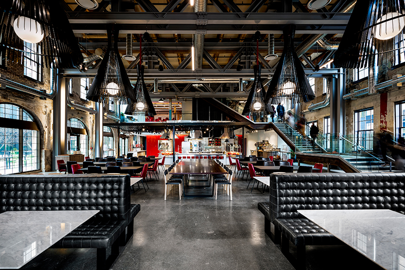 Google Waterloo's Phase 1 workspace uses wireless charging throughout the building to support employees (Photo: ARIDO)