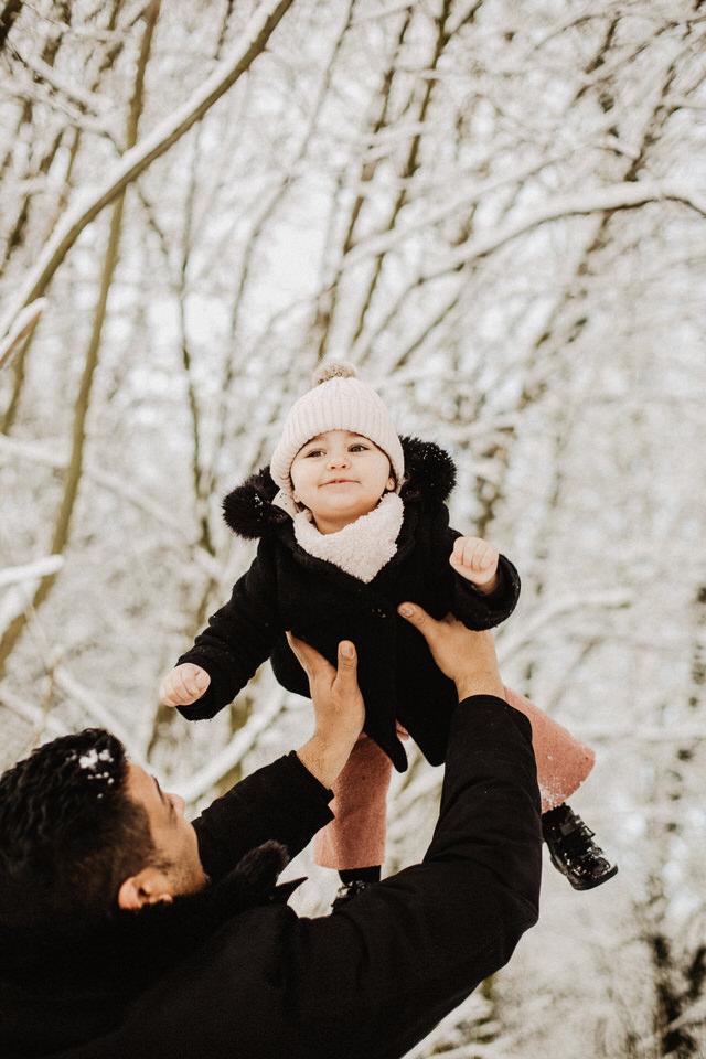 Familienshooting im Schnee Aachen Bonn
