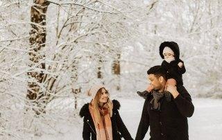Natürliche Familienshooting im Schnee Bonn Aachen