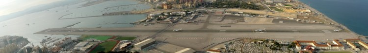 Gibraltar Strange Airport, Where Runway Intersecting a Road 0