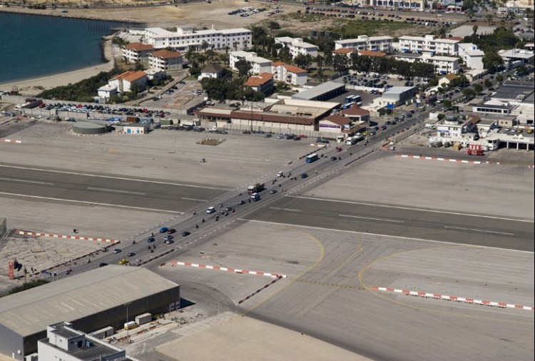 Gibraltar Strange Airport, Where Runway Intersecting a Road 3
