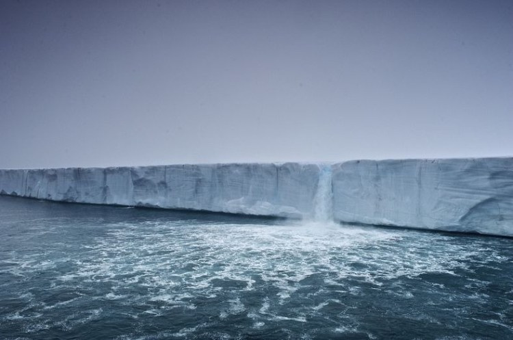 Stunning Glacier Waterfall in Svalbard Norway 8
