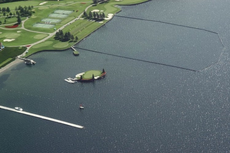 Floating Golf Course at Luxury Coeur d'Alene Resort 1