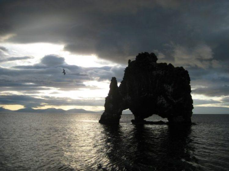 Mysterious Hvitserkur Shaped Rock in the Gulf of Hunafloui 1