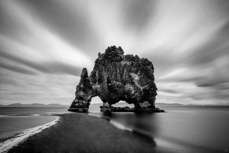 Mysterious Hvitserkur Shaped Rock in the Gulf of Hunafloui 5