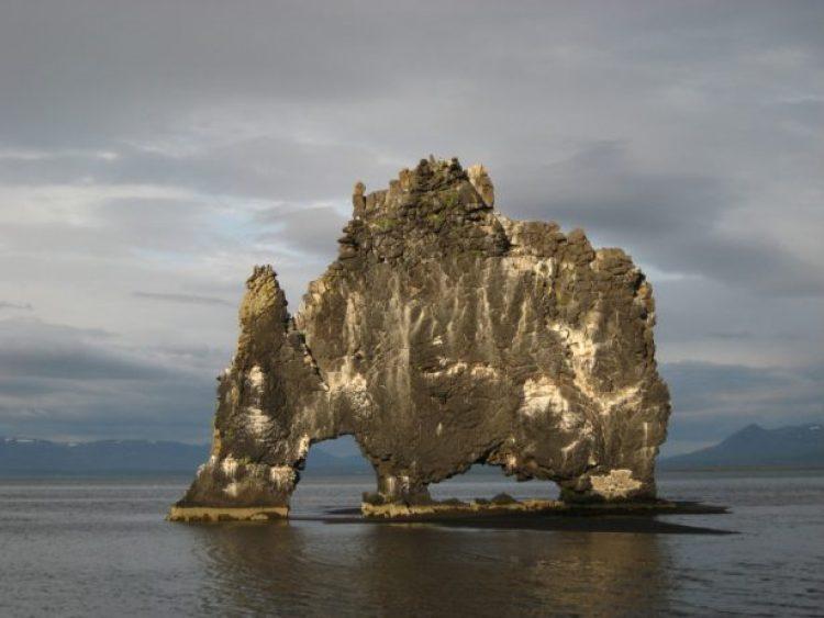 Mysterious Hvitserkur Shaped Rock in the Gulf of Hunafloui 8