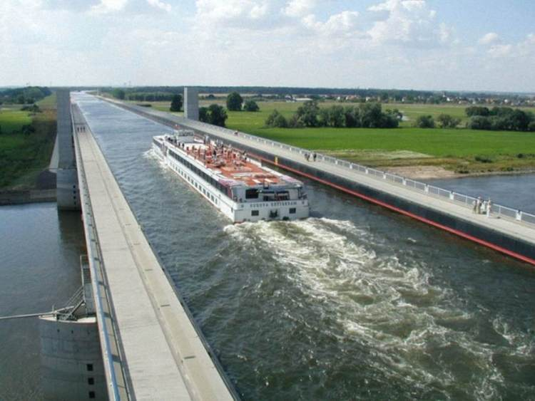 The Incredible Magdeburg Water Bridge in Germany 0