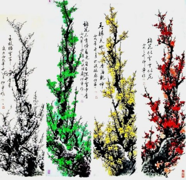 Gorgeous Watercolors Merge Nature with Chinese Calligraphy2