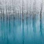 The Magnificent Blue Pond Haikkaido Japan