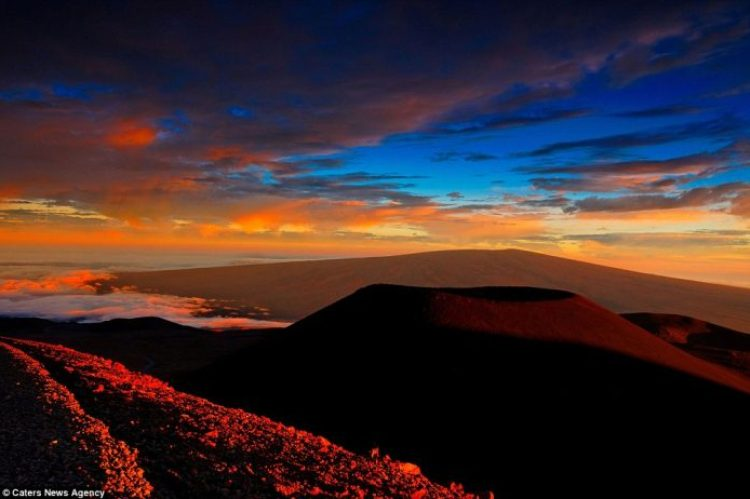 Lava crashing into the Sea off Hawaii18