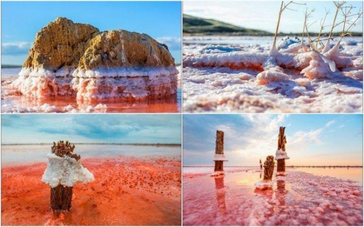 Sivash Salt Lagoons in the Crimean Peninsula