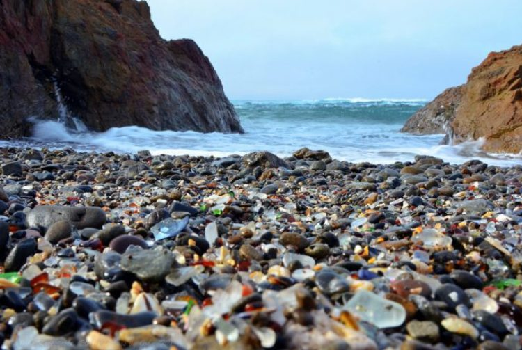 Sparkling Glass Beach of California 11