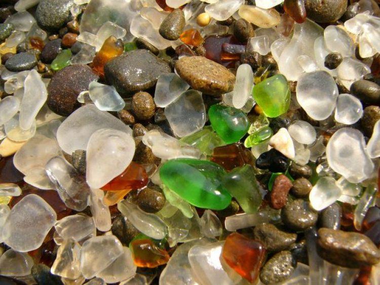 Sparkling Glass Beach of California 8