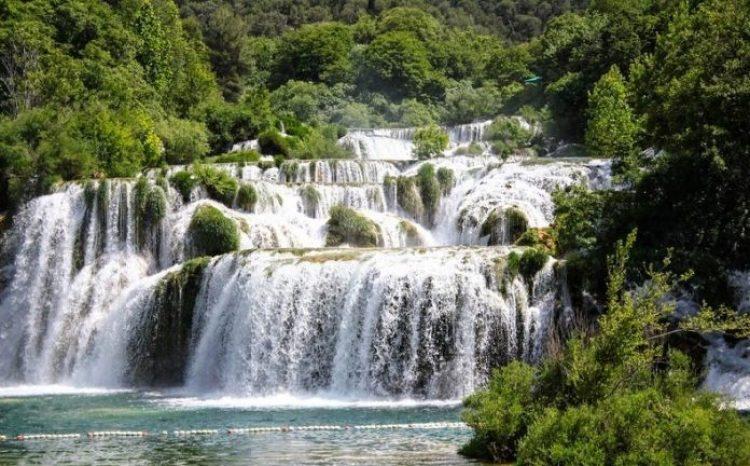 Skradinski buk Waterfall in Croatia