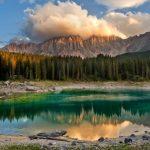 Carezza Lake or Karersee Lake Italy