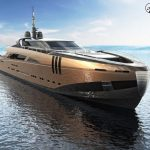 Italian designer reveals plans for spectacular 164ft super-yacht made out of BRONZE