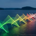 The Motions of Canoers and Kayakers Exposed with LED's in Long Exposure Photography