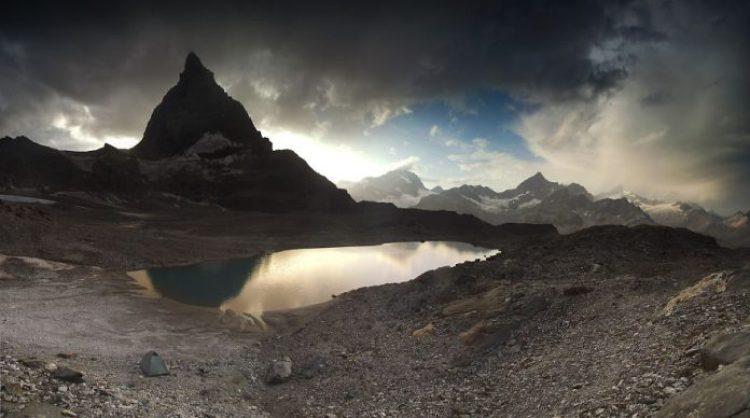 Under Matterhorn, 3,000m Valais Alps, Switzerland