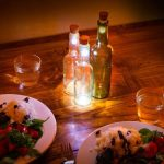 Old Bottles Turn into Beautiful Rechargeable Lamp