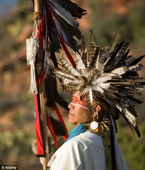 A decorative Havasupai medicine man