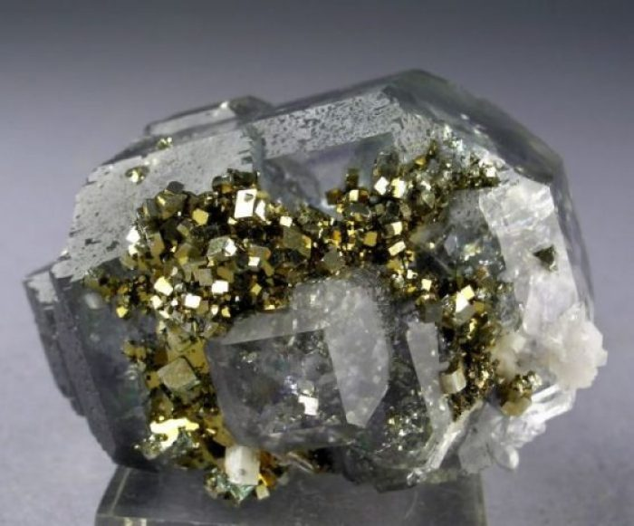 Fluorite-Quartz-Pyrite-Combination