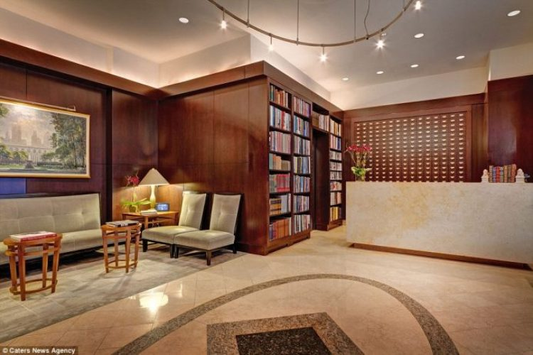 More than 6,000 books are scattered throughout the guest rooms and public spaces at New York City's Library Hotel