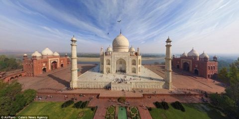 The Indian landmark has been captured many times before, but the team took a new perspective